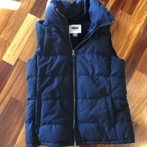 Juniors XS navy puffer vest